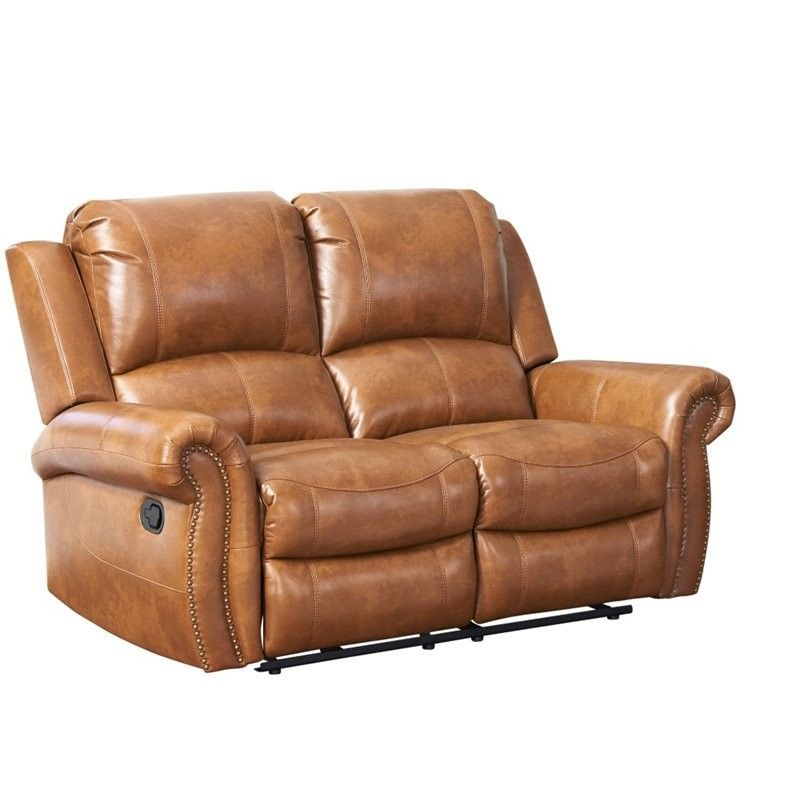 Unique Lowest price online on all Abbyson Living Winston Leather Reclining Loveseat in Brown Lovely - Simple power reclining sofa Style