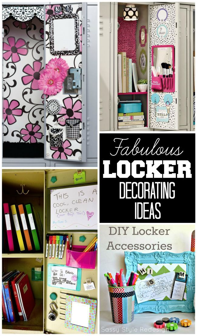 Locker Decorating Ideas | Office | Pinterest | Lockers, Locker ideas ...