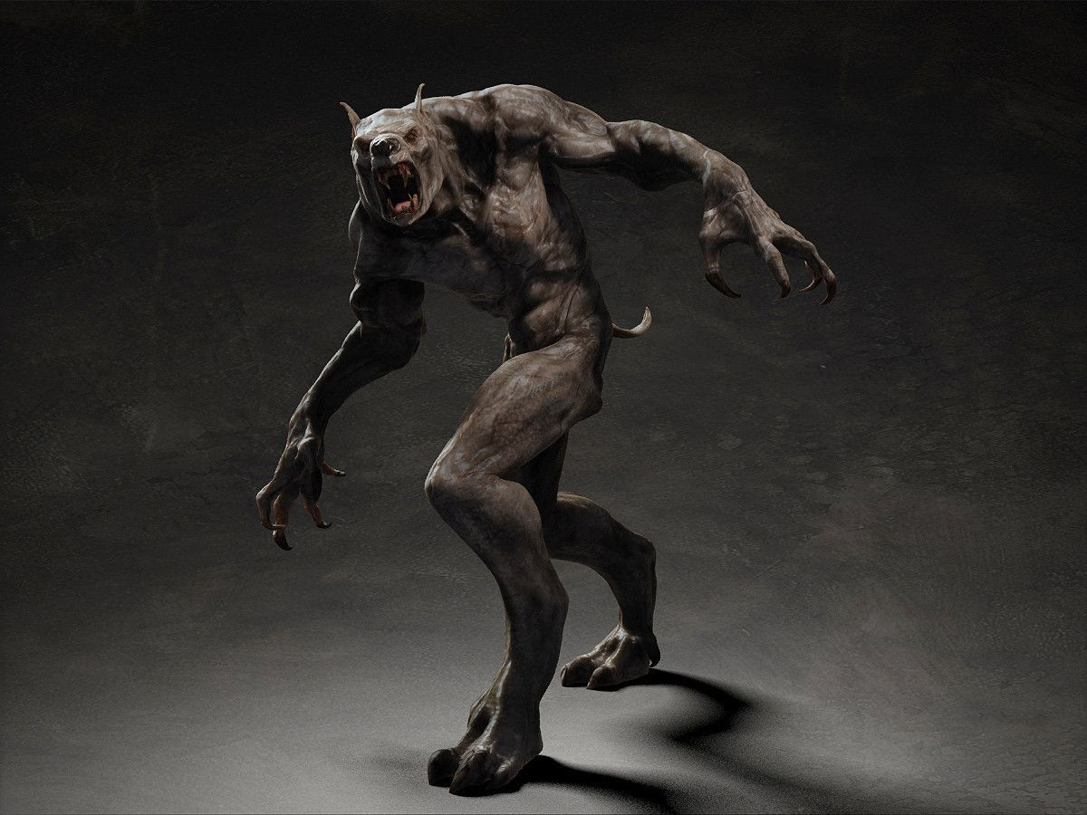 Werewolf creature google search victorian era monster for Monster 3d model