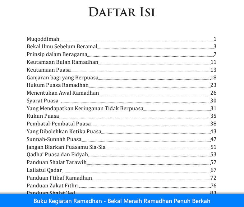 Buku Kegiatan Ramadhan Bekal Meraih Ramadhan Penuh Berkah Buku