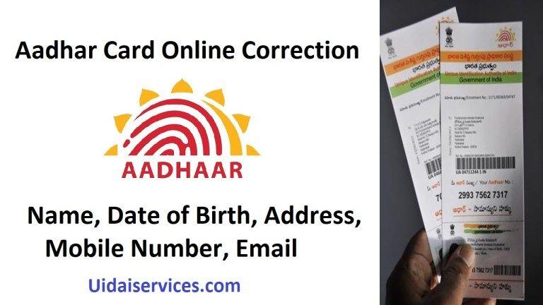 Aadhaar Online Update Aadhar Card Online Cards