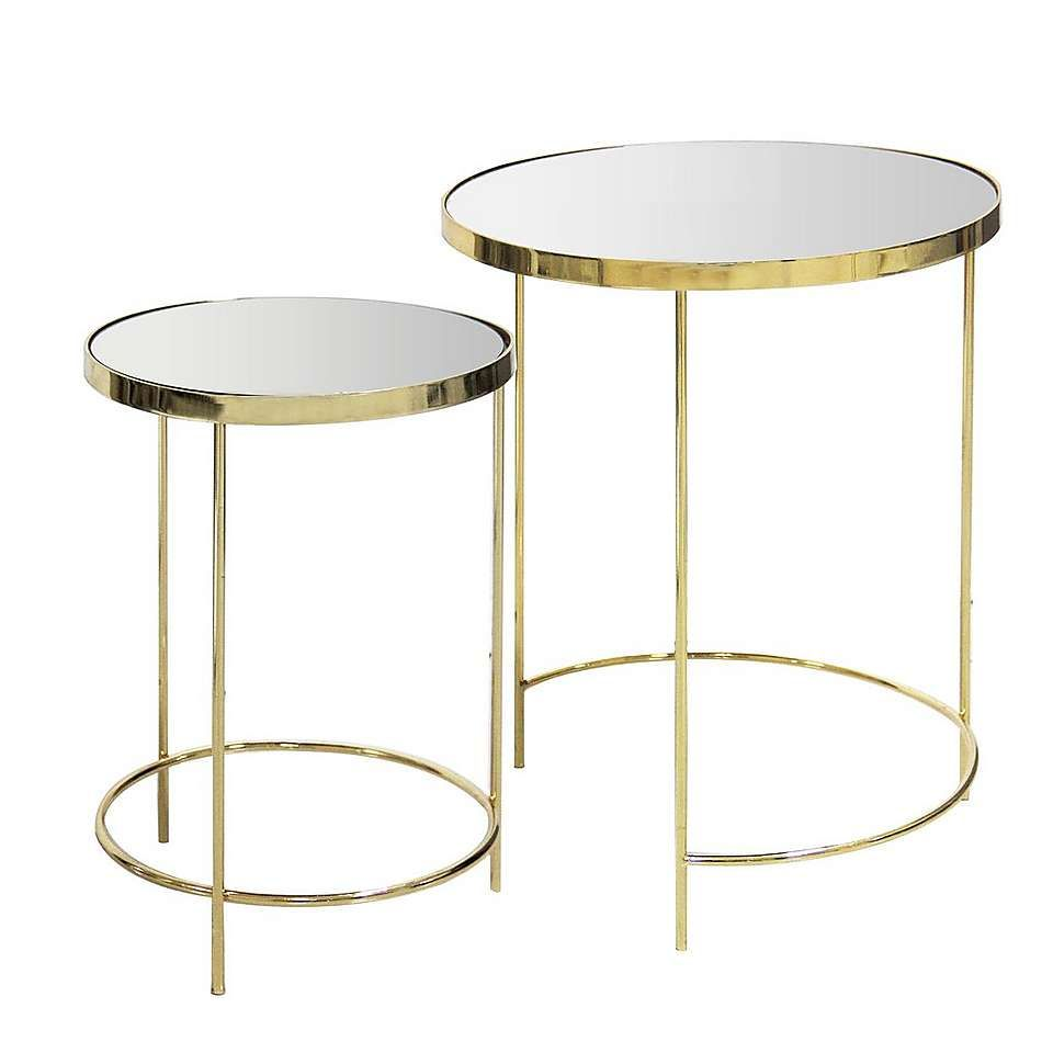 Ritz Mirrored Nest Of Tables Mirror Nest Of Tables Gold Glass Coffee Table Coffee Table [ 960 x 960 Pixel ]
