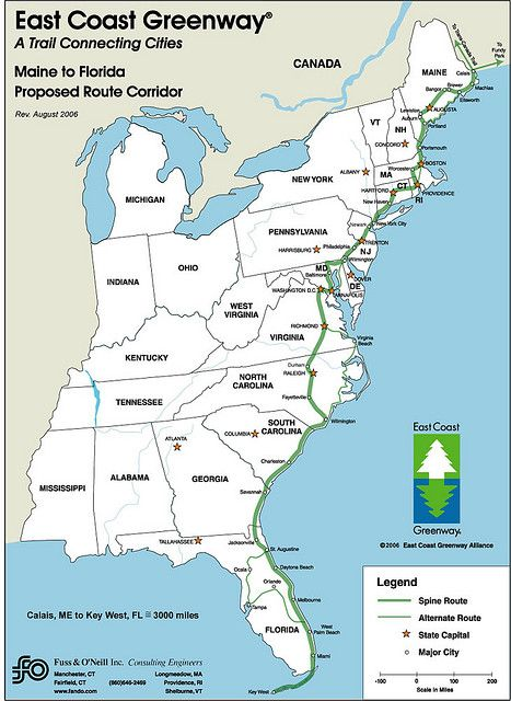 Bucket list The nearly plete 3 000 mile long East Coast Greenway