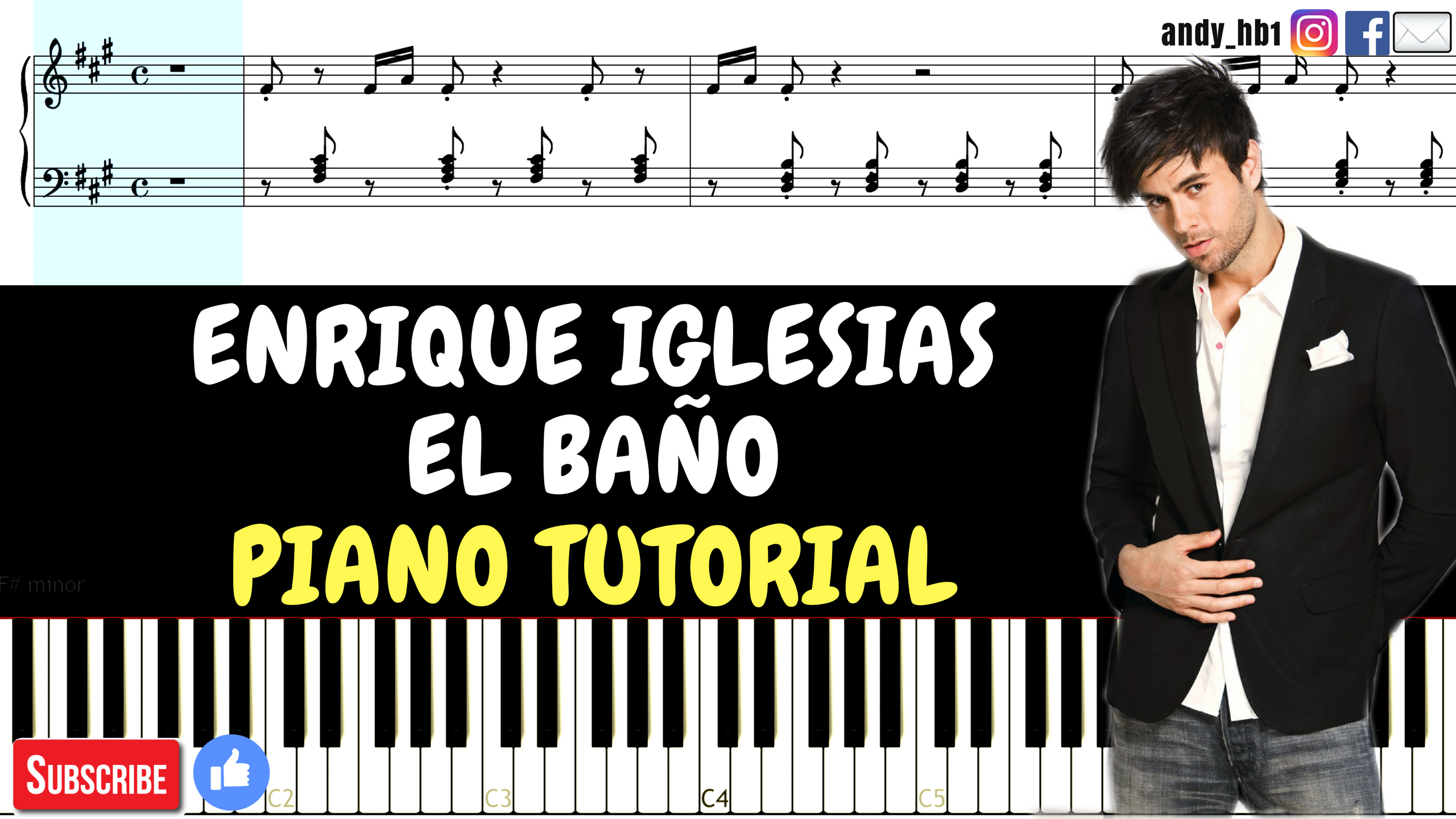 El ba o enrique iglesias feat bad bunny easy piano for Bano re bano song