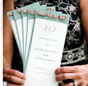 7 steps to make your own diy layered wedding programs | my someday, Wedding invitations