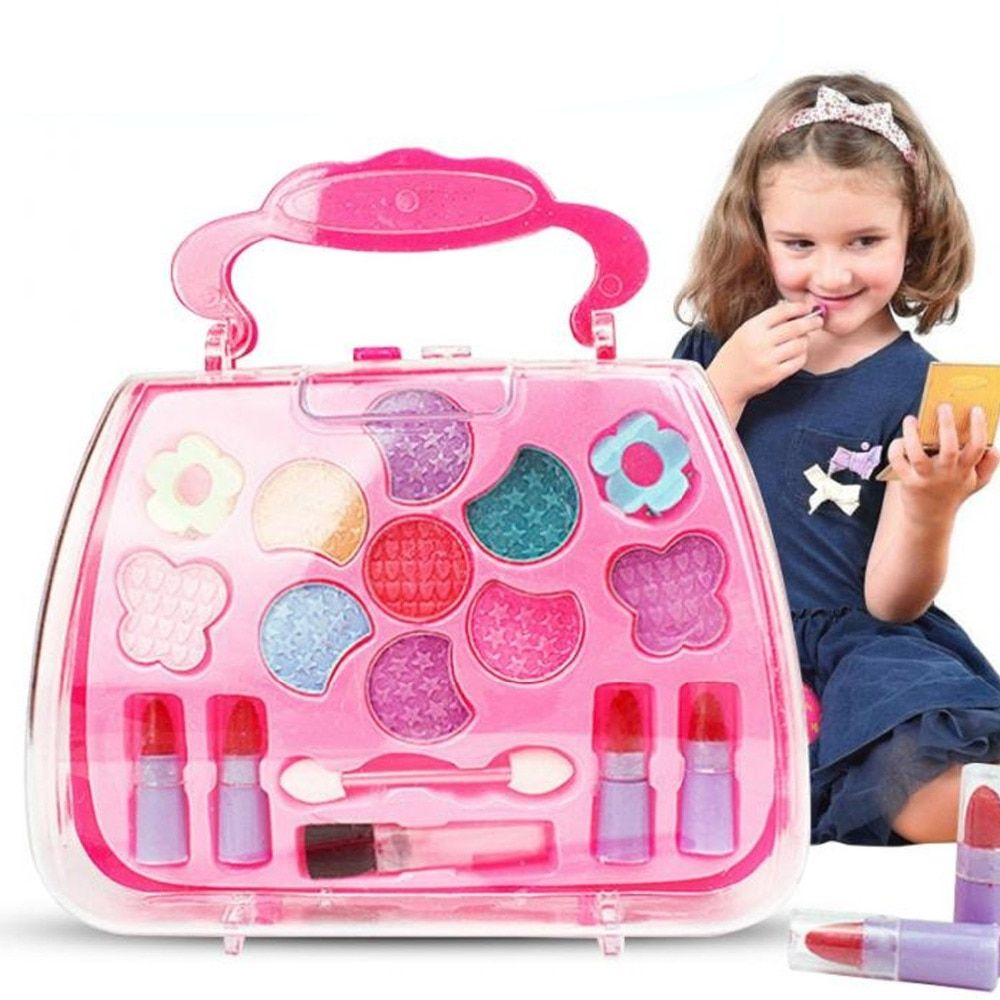 Kids Girls Safety Washable Cosmetic Makeup Pretend Play