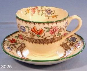 Copeland Spode Chinese Rose Vintage Bone China Tea Cup and Saucer Pattern No. 2/9253