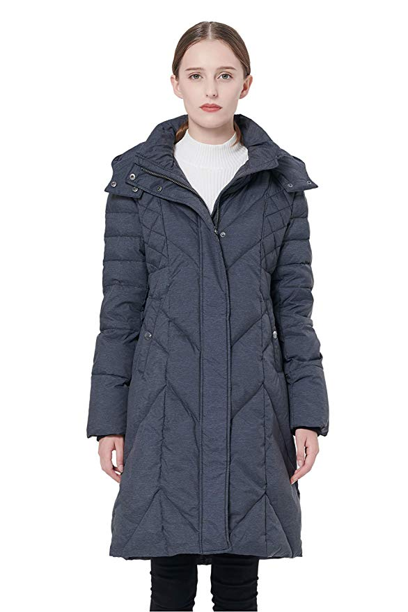 Amazon.com: Orolay Women's Thickened Down Jacket with Hood ...