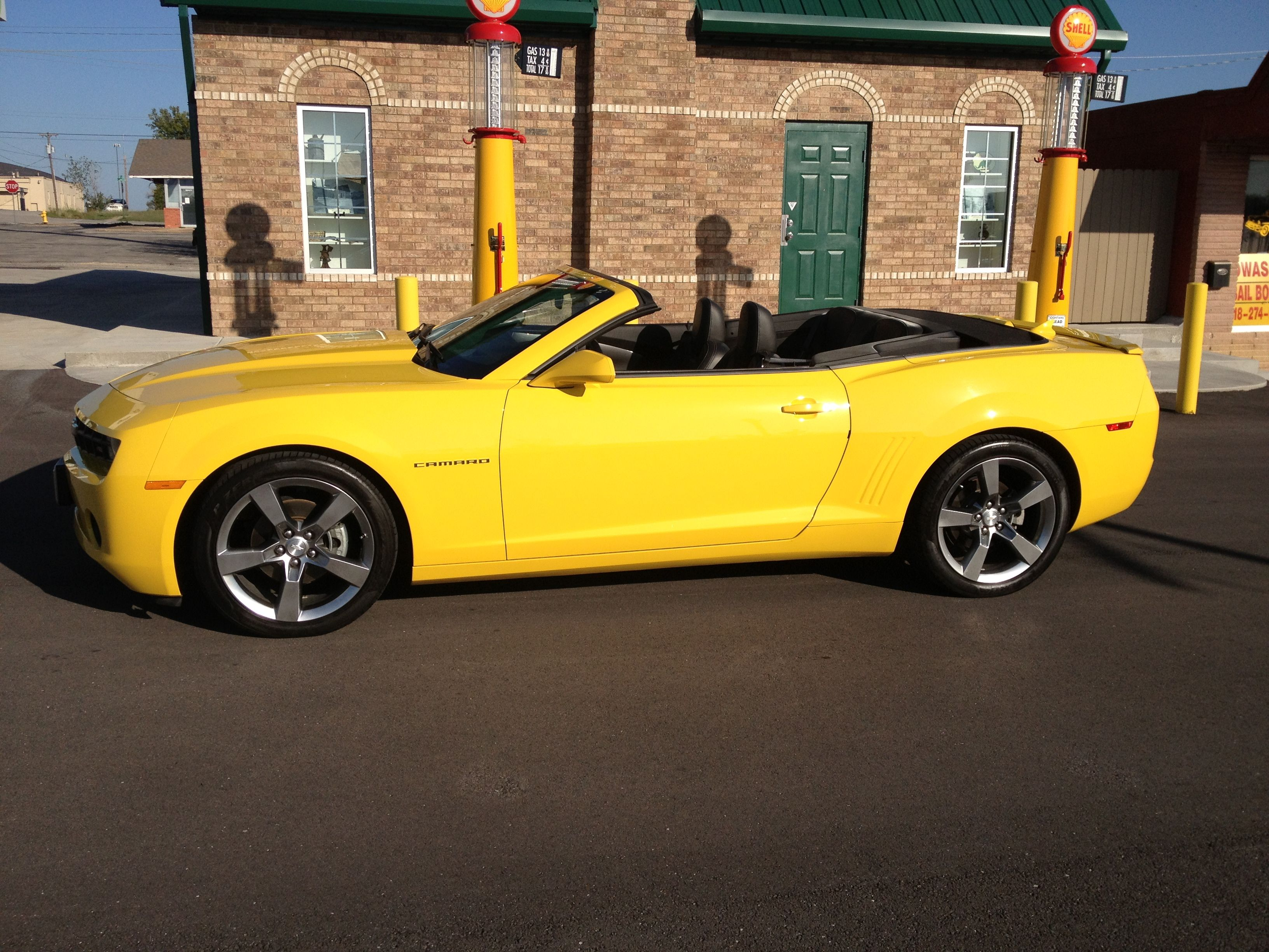After I Bought My Car At A Retro Gas Station In Owasso Oklahoma July 2012 Camaro Convertible Gas Station Chevrolet Camaro