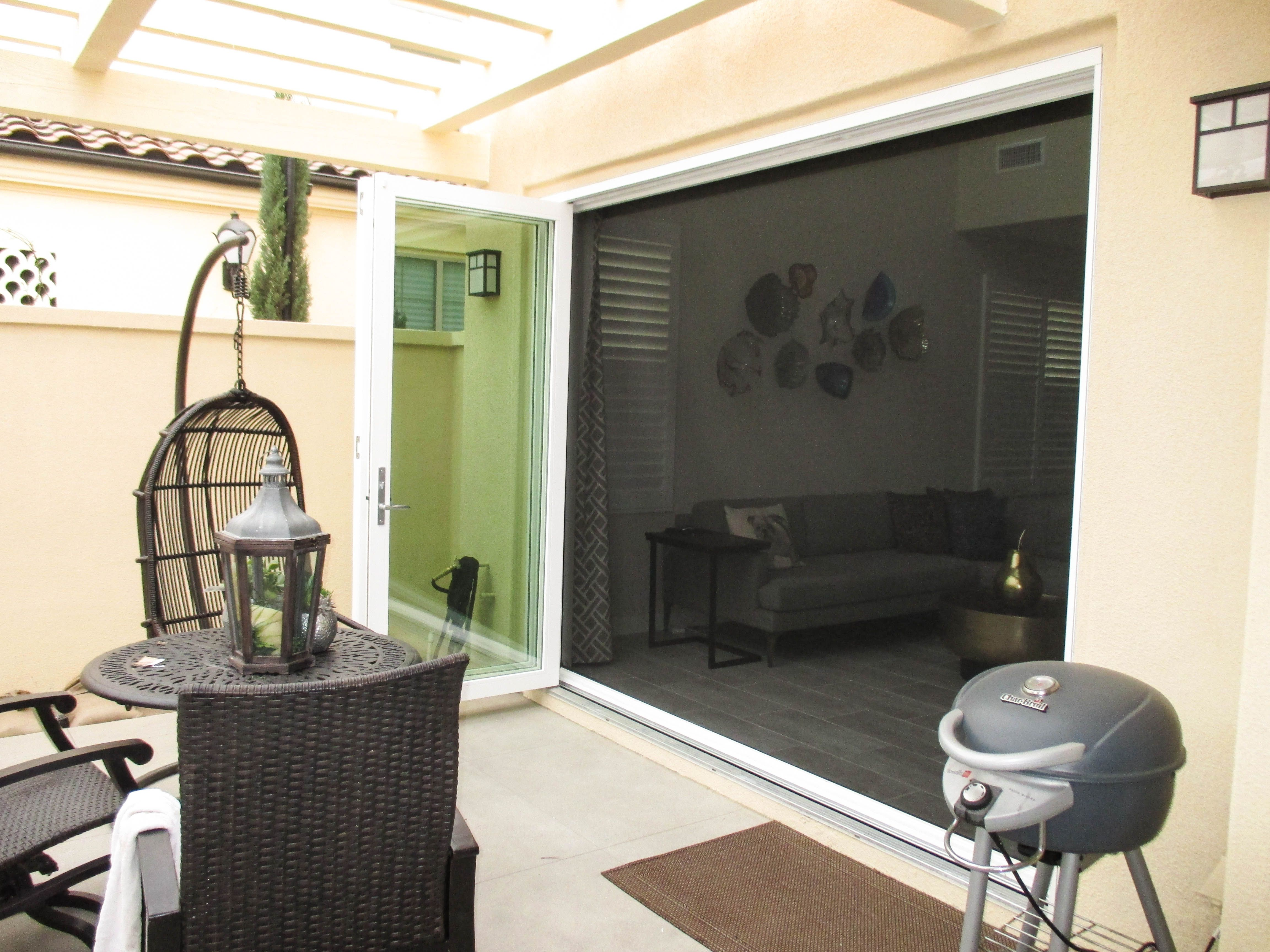 If you have a set of bifolding doors with a large opening