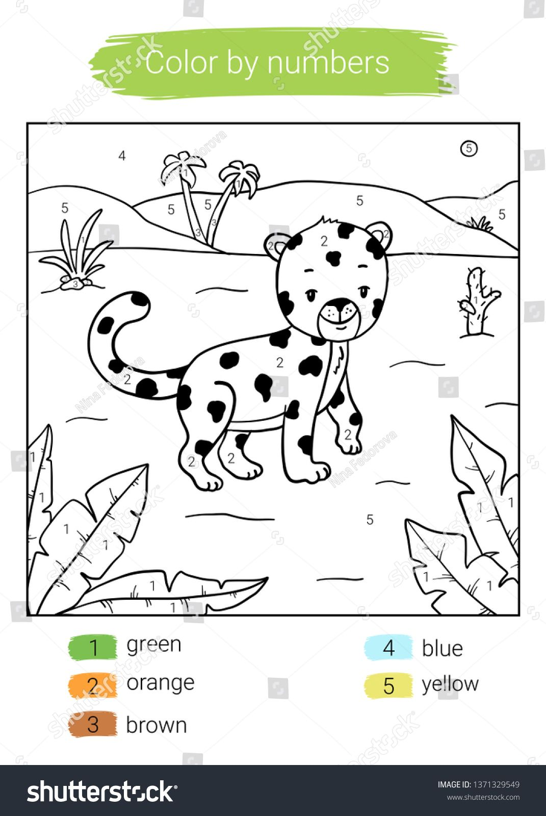 Color By Number Leopard Educational Children Game Coloring Book Ad Spon Leopard Educational Color Number Coloring Books Games For Kids Color