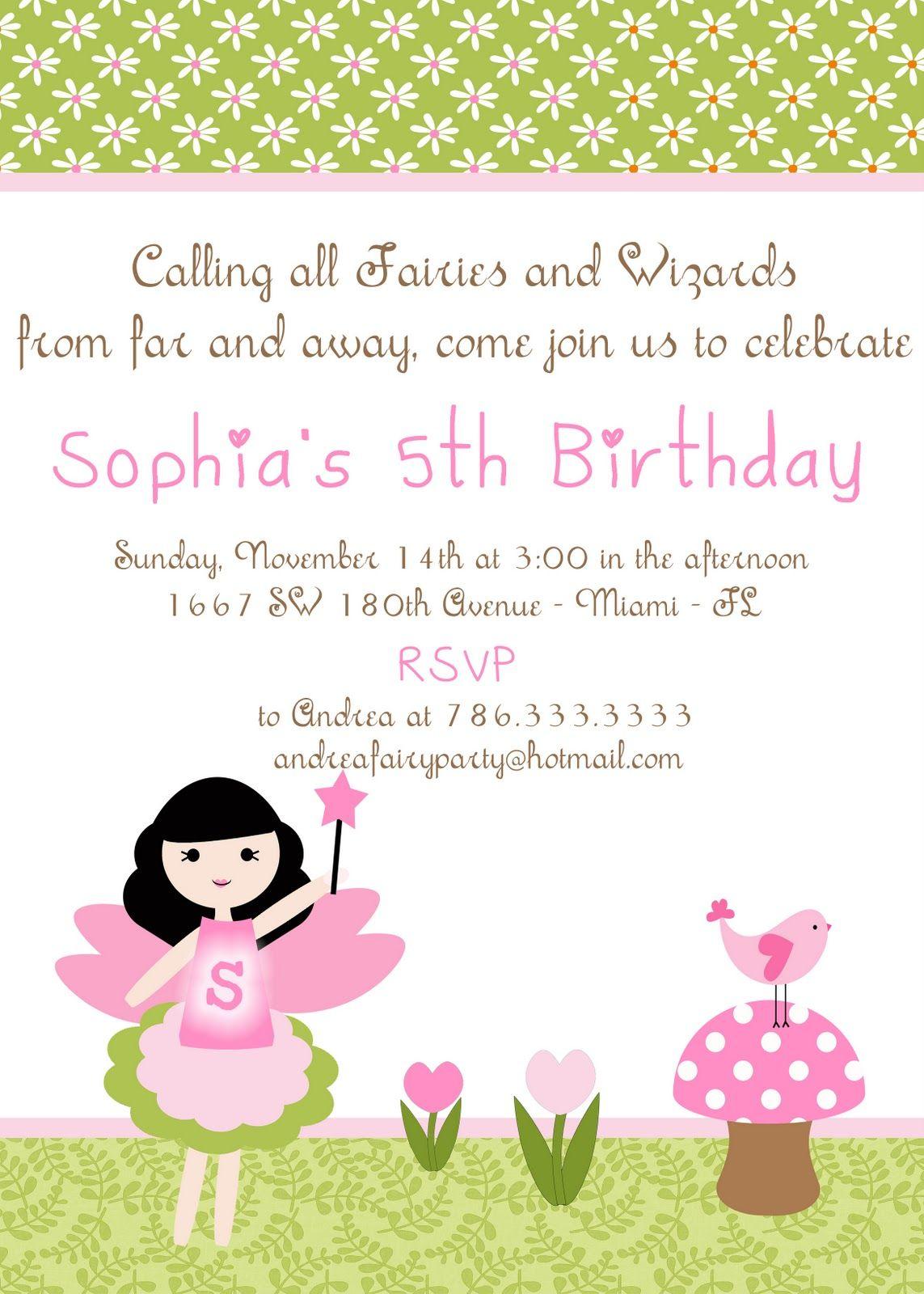 Fairy Party Invitations Party Ideas Pinterest Fairy Party