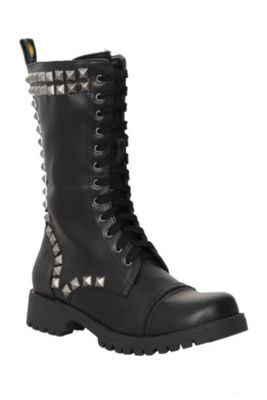 48921d694b7 Volatile Black Heavy Metal Combat Boots. I want these!! | Assesories ...