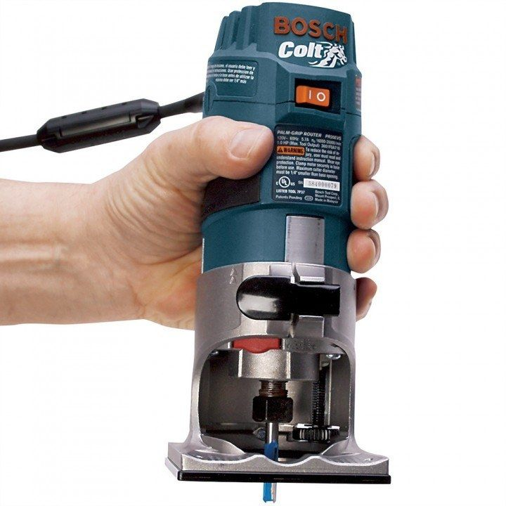 Bosch Colt Variable Speed Palm Router Kit Palm Wood