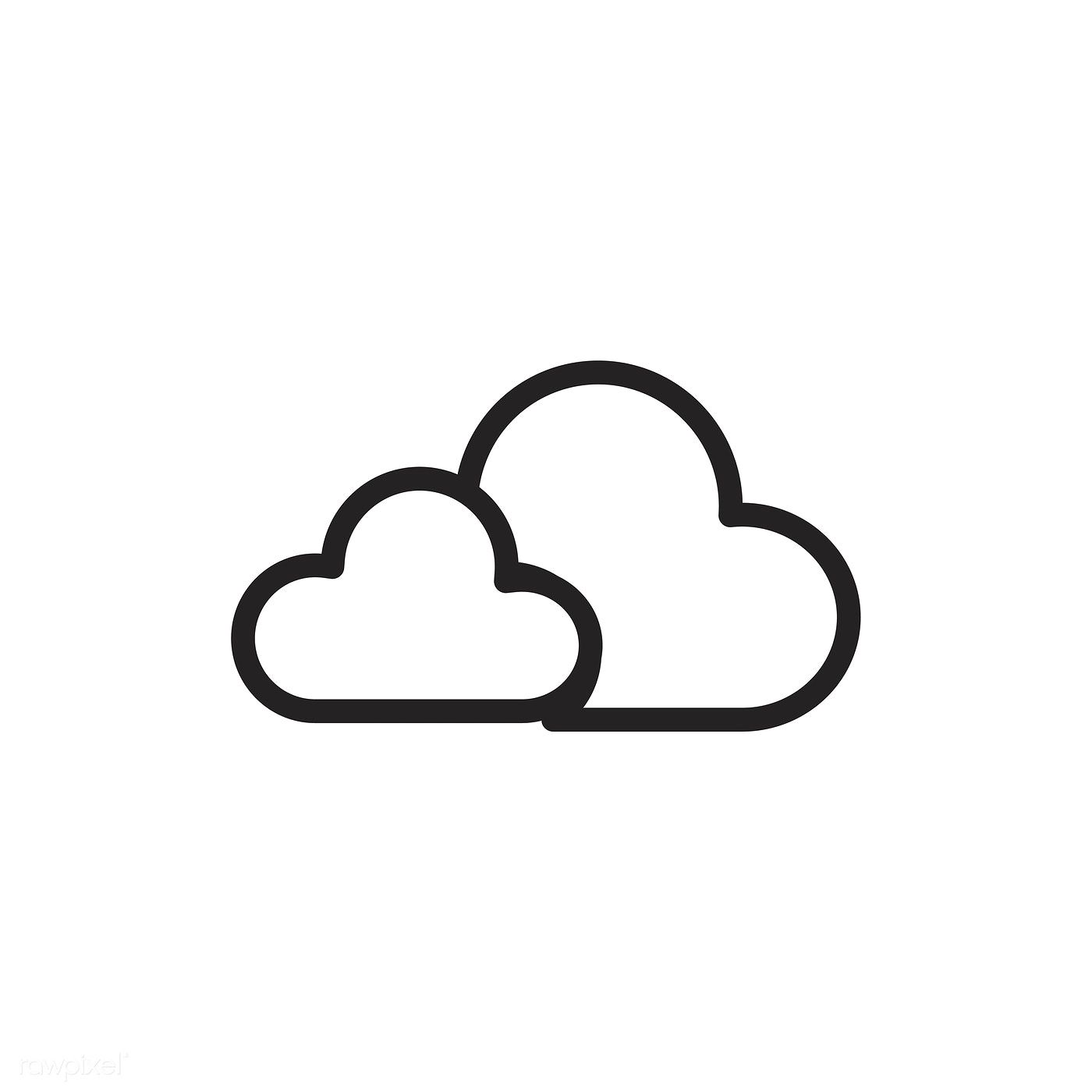 Cloud Icon Vector Free Image By Rawpixel Com Cloud Icon Mini Drawings Cute Easy Drawings