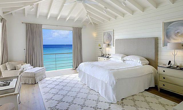 Outstanding Coastal House with Pool Design Sweet Master Bedroom