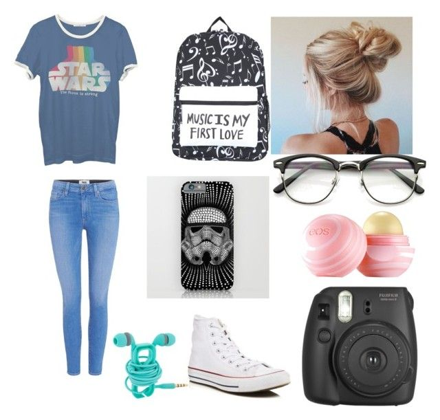 my style by emily97496 on Polyvore featuring polyvore fashion style Junk Food Clothing Paige Denim Converse Eos clothing