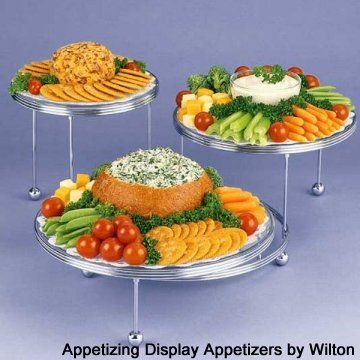 Vegetable Tray And Dip Spinach Dip In Bread Bowl With Vegies And