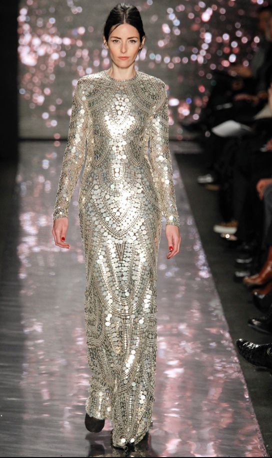 The Final Piece In Collection Was Worth Its Weight Gold Or This Case Silver Entire Dress Is Made Of Sterling Pailettes Wow