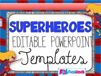 editable superhero powerpoint templates superhero pinterest
