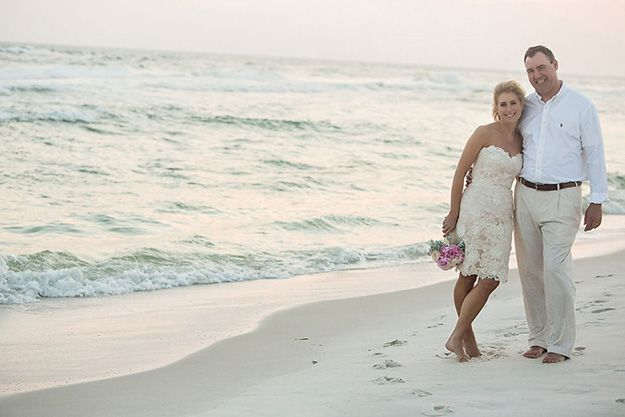renew vows dresses on a beach