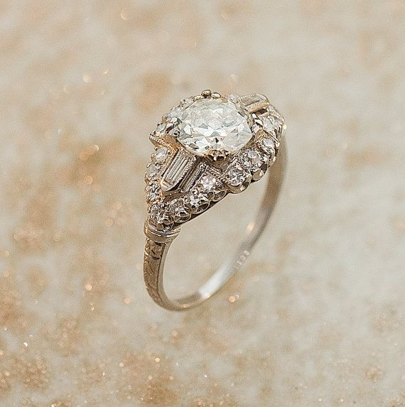1930s Platinum Diamond Ring from Somewhere in Time Fine Jewelry