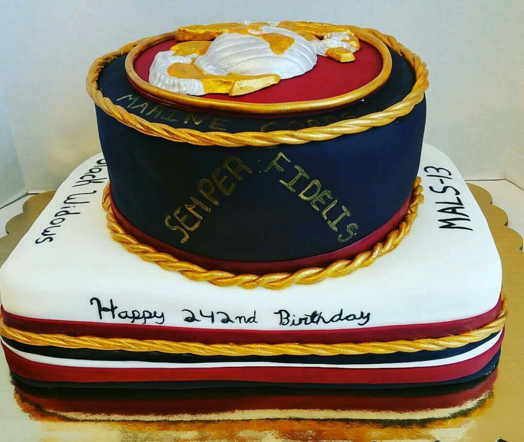 Marines Birthday Cake Military Cakes Pinterest Military Cake