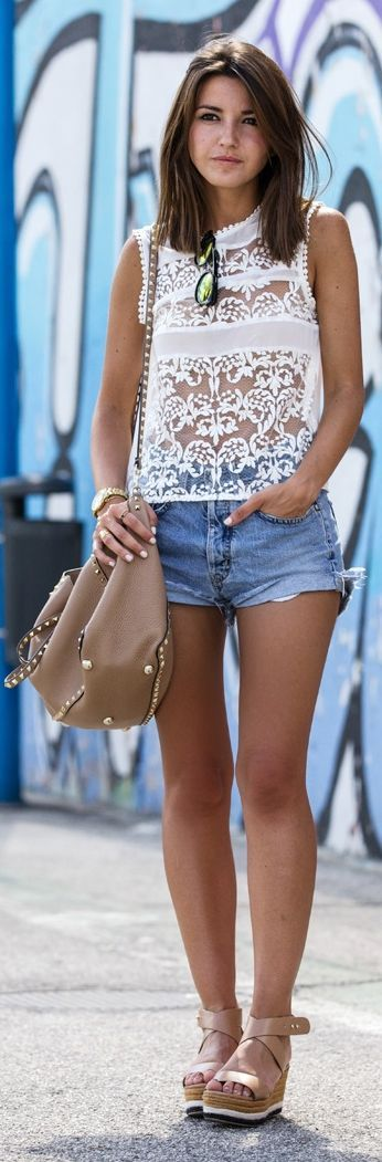 Lace tank over a solid one