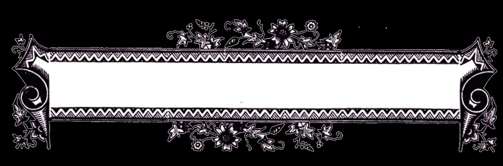 Black Vintage Frame Border