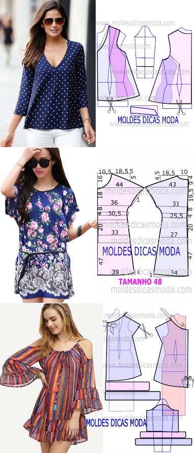 ♥ moldes blusa♥                                                                                                                                                     Más