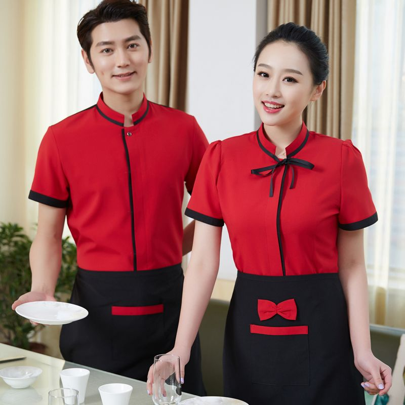 Hotel Uniform Spring Summer Restaurant Waitress Uniforms Overalls