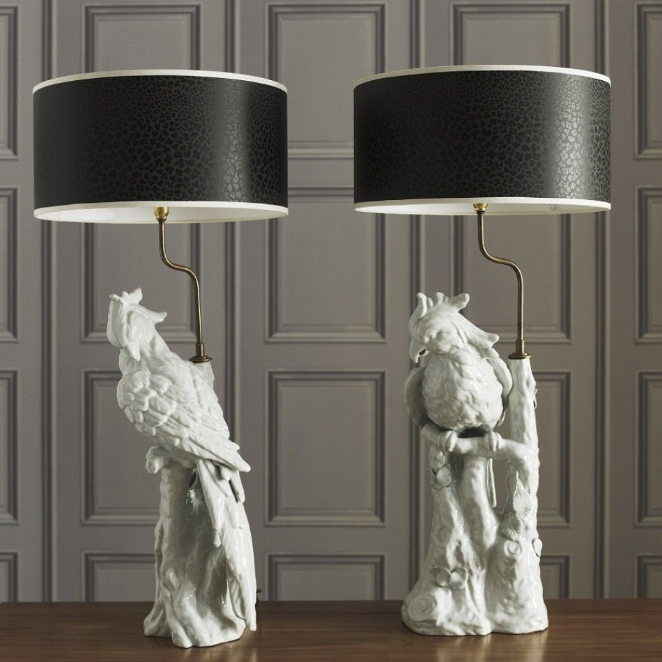 Parrot Lamp, In White Porcelain, So Beautiful, Sharing Hollywood Luxury  Lifestyle Home Decor