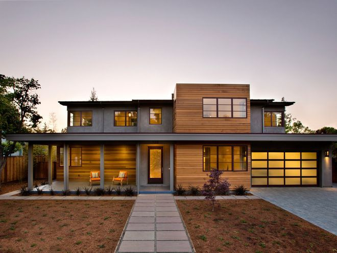 Amazing Exterior Makeover · Contemporary Wood Siding ...