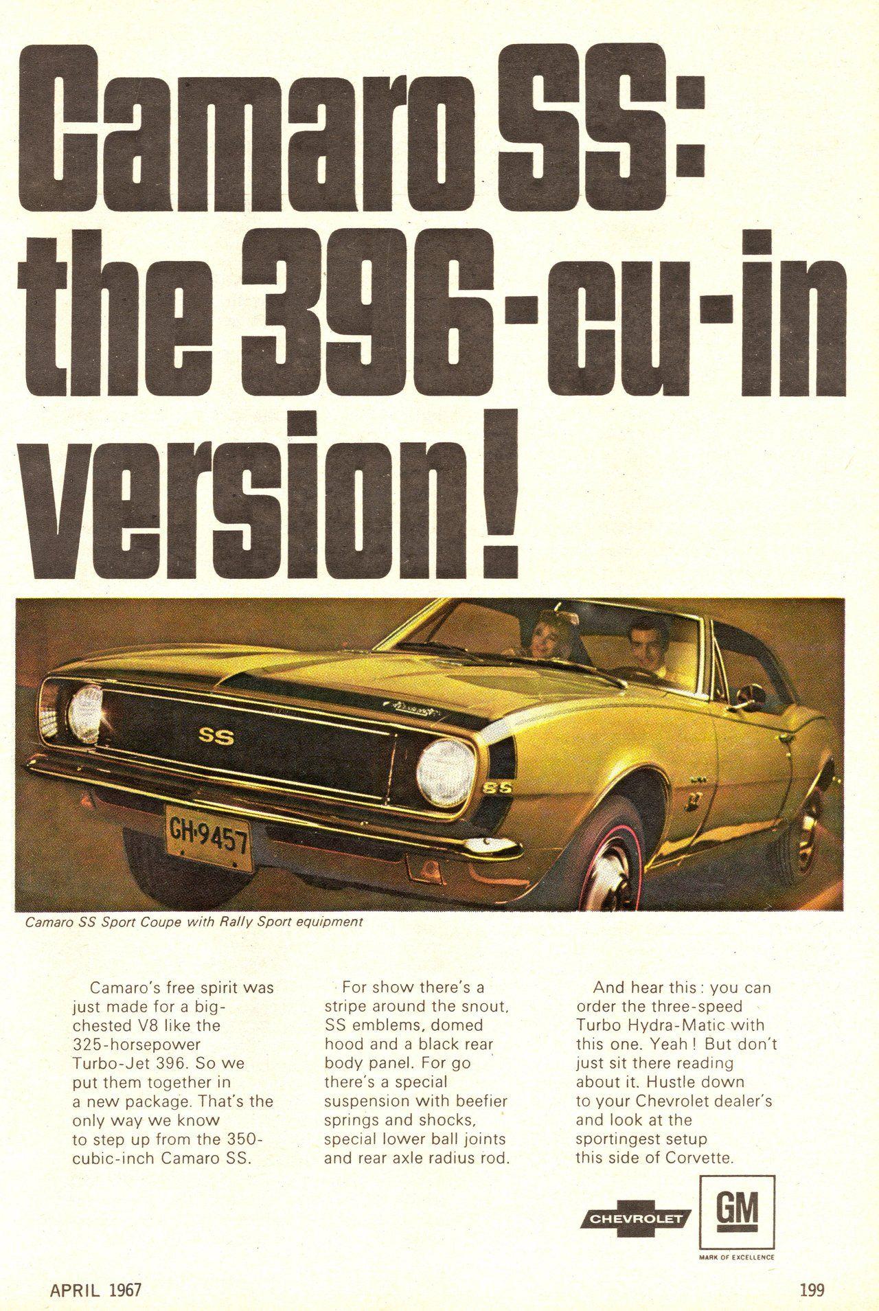 1967 Chevrolet Camaro SS Ad … camaro ss