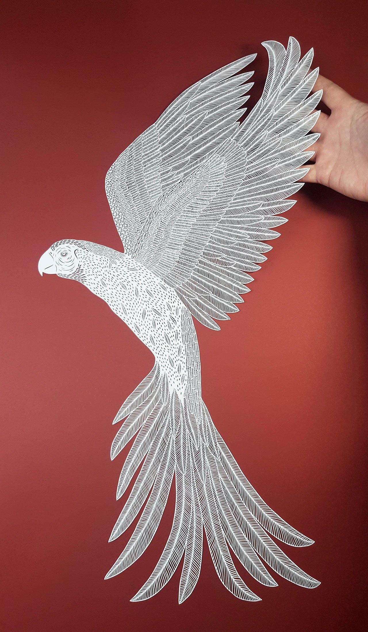 The Crisp Patterns of Pippa Dyrlaga s Paper Art