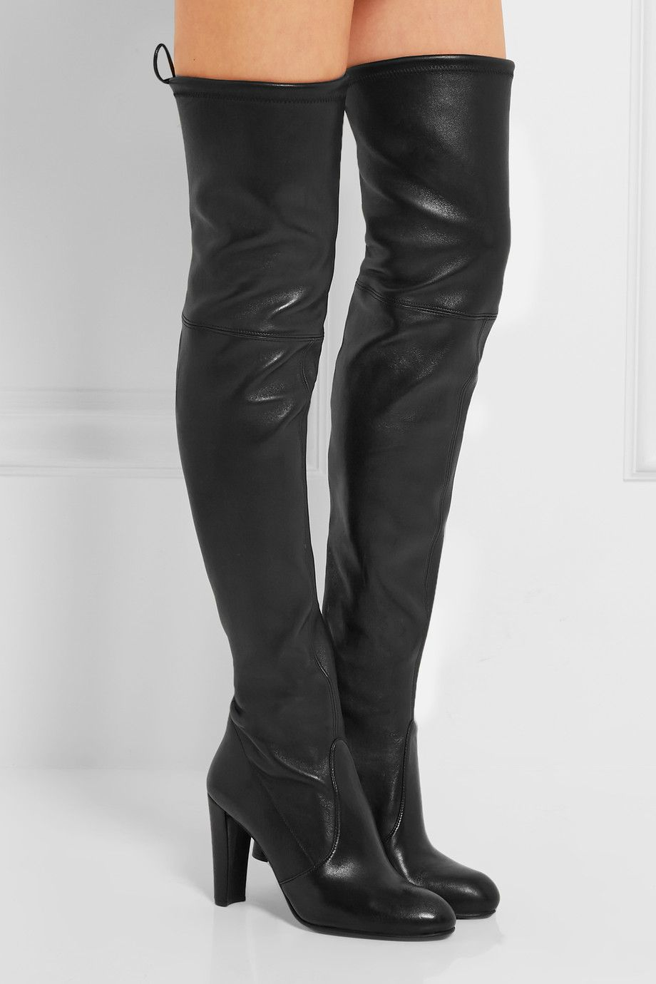 9088e1beadf STUART WEITZMAN Highland leather over-the-knee boots | Desirable ...