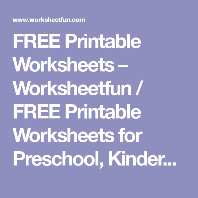 FREE Printable Worksheets – Worksheetfun FREE Printable Worksheets
