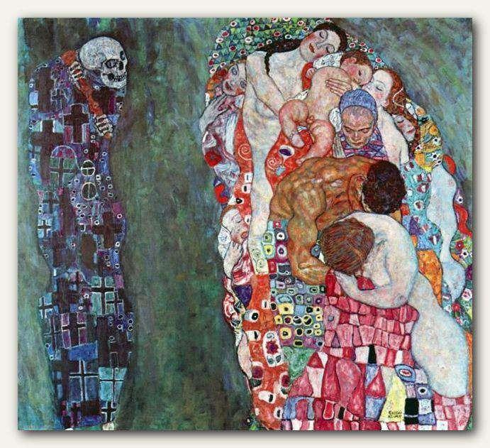 Gustav Klimt Oil Painting Reproduction On Canvas - Death and Life, $359.00 http://bestartdeals.com.au