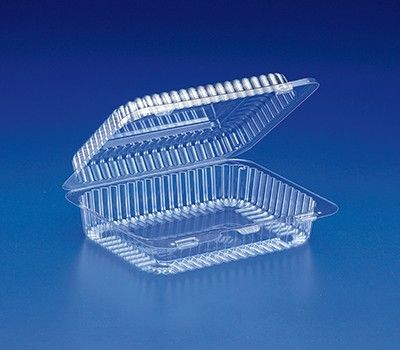 Crystal Clear Rectangular Plastic Container 100 Pack Cookie Container Clear Cookies Food Containers