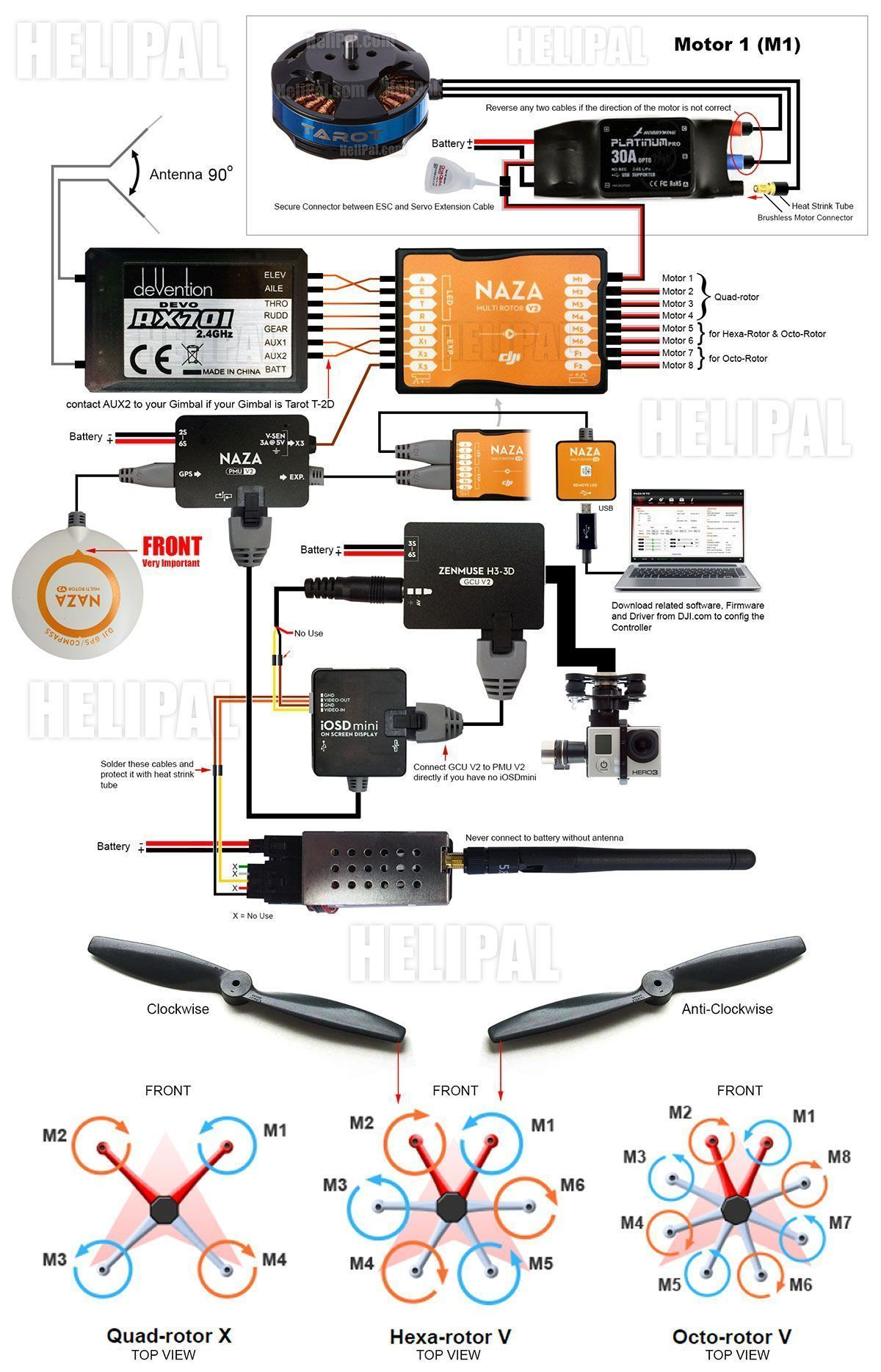 hight resolution of gimbal naza wiring diagram