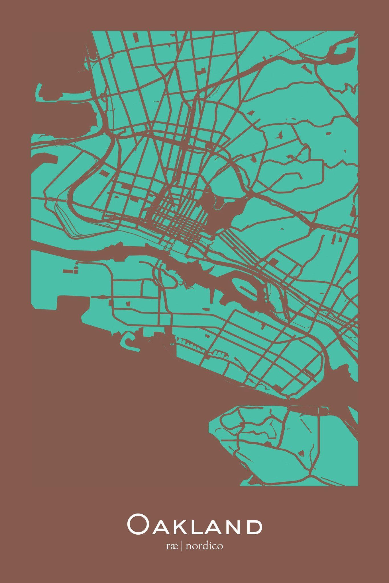 Oakland California Map Print Maps