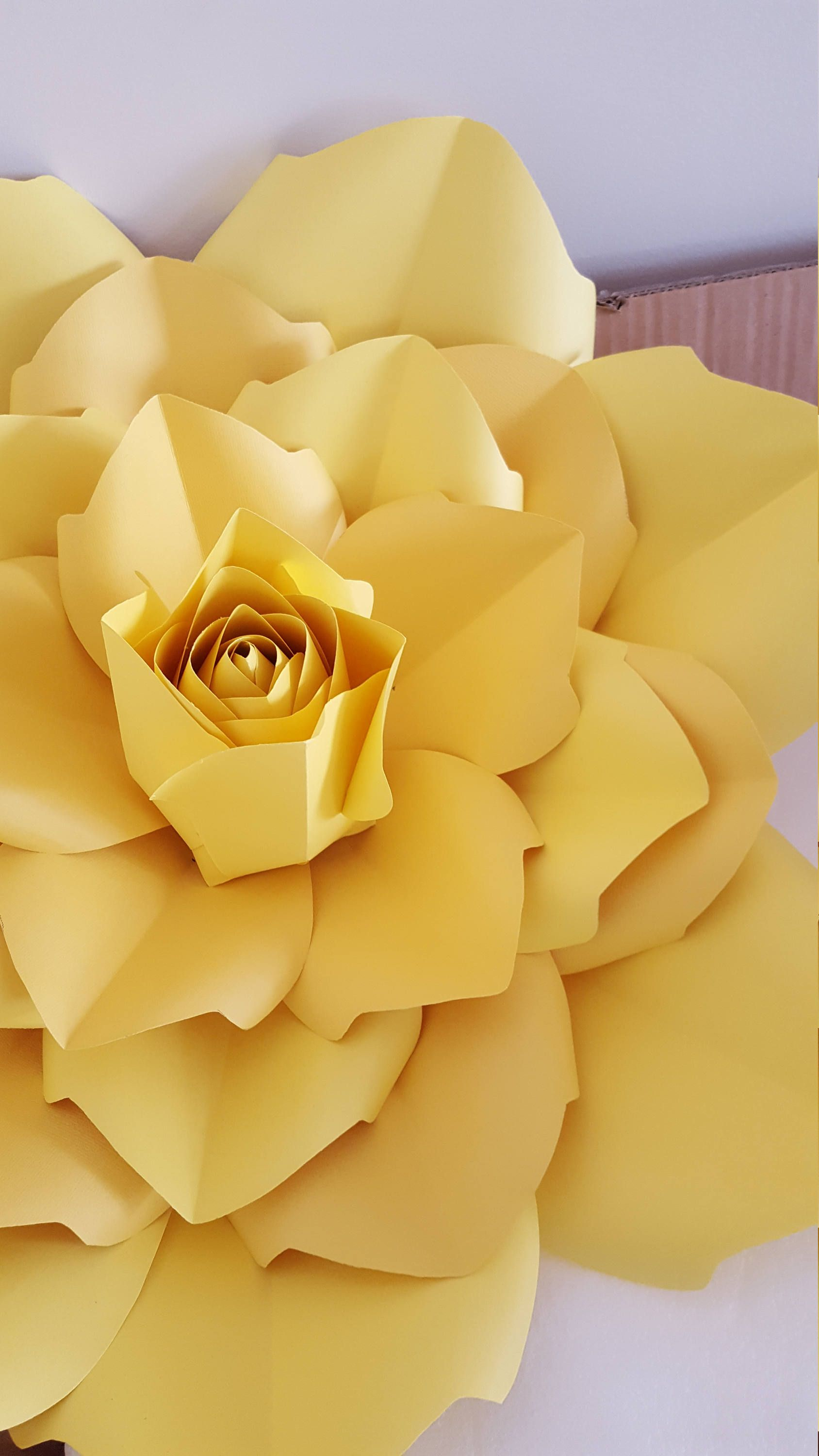 Paper Flower Template PDF instructions with centre rose and Base PDF