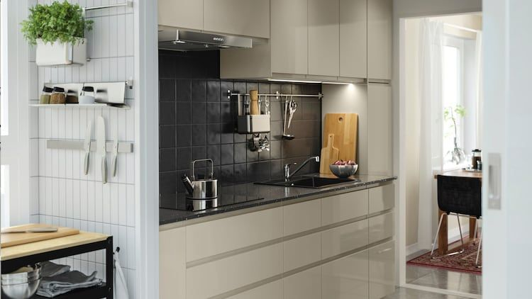 Cuisines Metod Finition Voxtorp Beige Brillant Ikea En 2020 Cuisine Ikea Ikea Meuble Haut Ikea