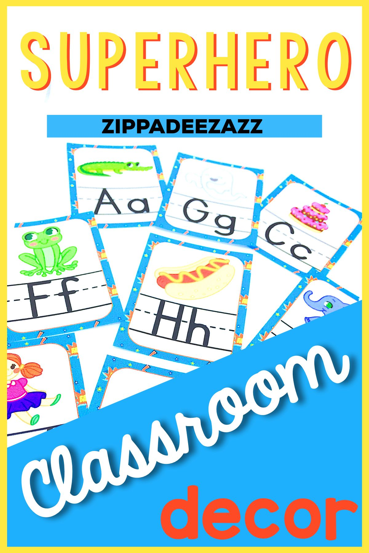 Superhero Classroom Decor Pack EDITABLE | Kindergarten worksheets ...