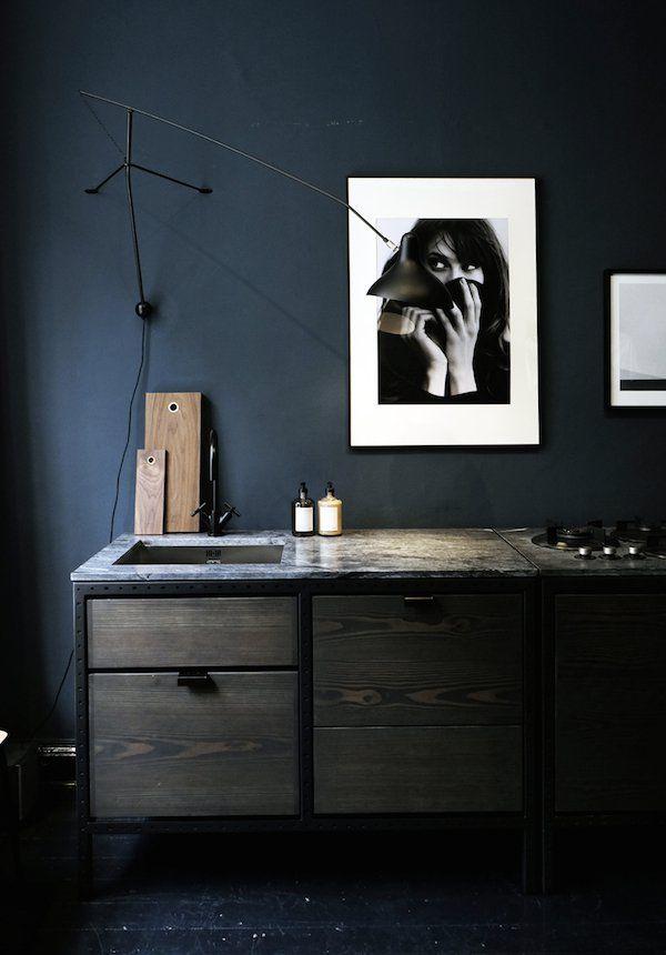 A Frama installation at Stockholm Dry Studios #dunkleinnenräume
