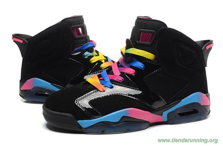 air jordan 6 retro negro 543390 050 colorful tienda zapatillas running