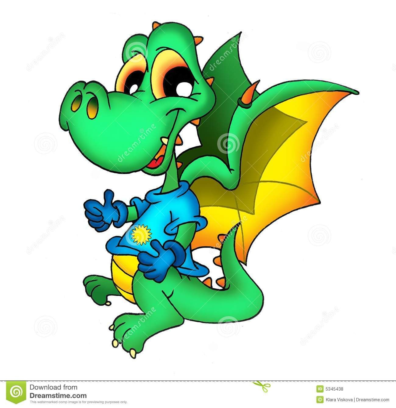 Cute Dragon In T-shirt Royalty Free Stock Photos - Image