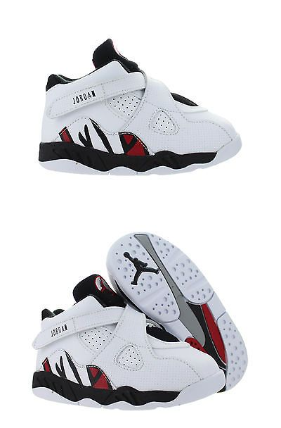 Baby Shoes 147285: Kids Air Jordan 8 Viii Retro Td Alternate White Black  Gym Red