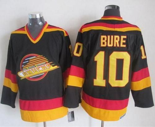 Canucks  10 Pavel Bure Black Gold CCM Throwback Stitched NHL Jersey ... 9cd7137ae