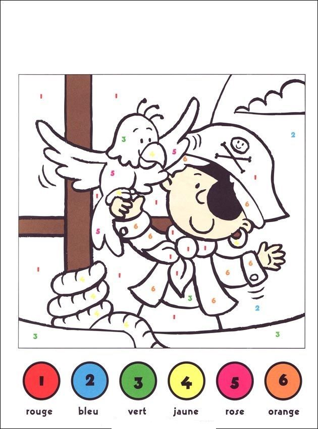 Imprimer coloriage magique pour les enfants de la maternelle pirates pirates maternelle - Dessin code maternelle ...